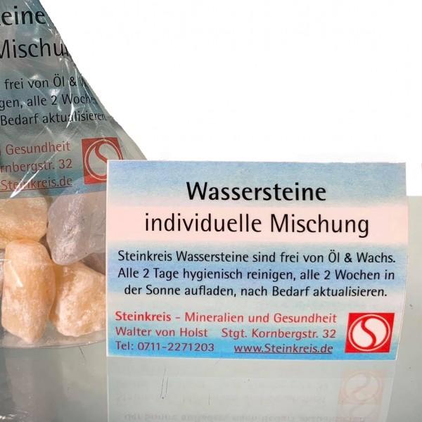 Rohstein-Wassermischung